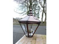 large copper lamp standard