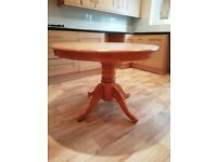 Round Solid Dinning Table & 2 Chairs