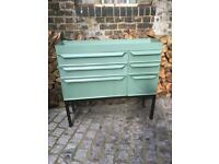Very cool metal industrial green storage unit cabinet