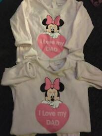 Disney Baby sleepsuits 12 months