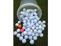 100 GOLF BALL GOOD CONDITION VARIETY OF NAMES. SOLD AS THEY COME.