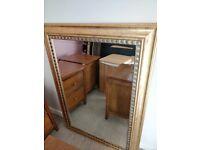 John Lewis gold mirror