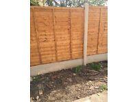 All landscape fencing slabbing