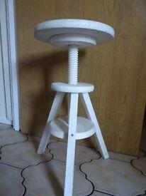 Multi use adjustable wooden stool