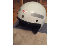 Bell white open face helmet XS