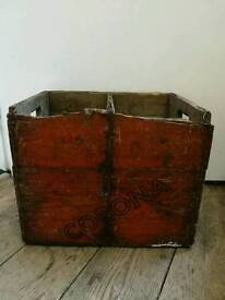 Vintage Wooden Corona Crate. Fits beer and wine. Storage.