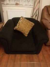 Black living room chair