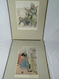 Louic Raemakers signed prints of German soldiers