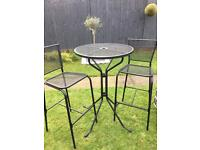 Black table & two stools