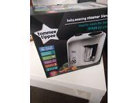 Tommee Tippee Baby Food Steamer Blender (Unused)