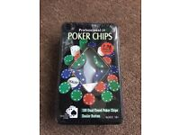 100 Dual Toned Professional Poker Chips