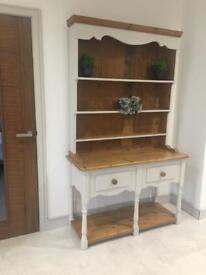 Kitchen Dresser solid pine living dining hall table oak wood grey storage