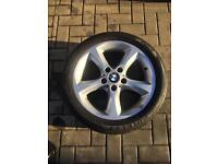 "Bmw 17"" Alloy wheel x1 with good Pirelli tier"