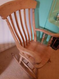 Antique Pine Rocking Chair