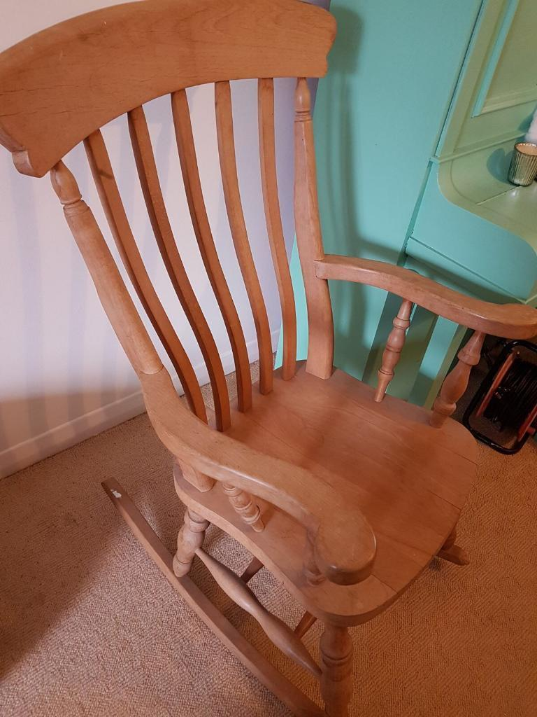 Antique Pine Rocking Chair - Antique Pine Rocking Chair In Ringmer, East Sussex Gumtree