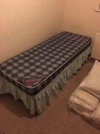 Divan single bed and 2 mattresses