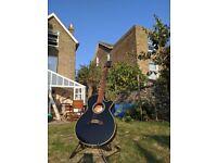 Black Takamine Electro Acoustic Guitar EG5610