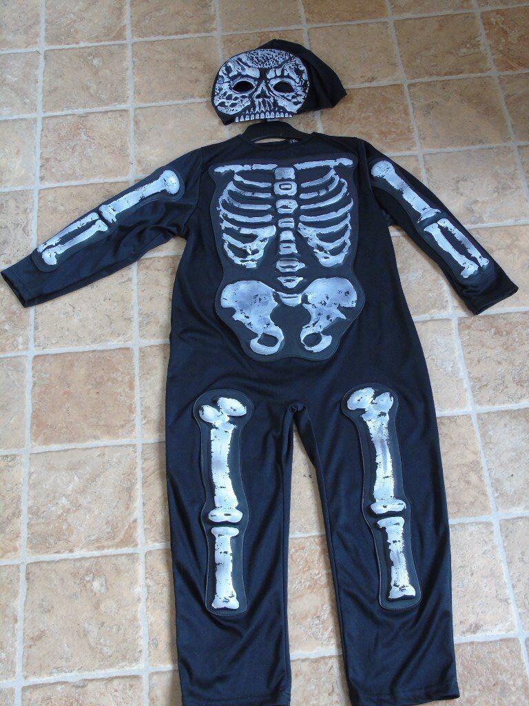 Halloween Skeleton glow in the dark oufit age 5-6 years