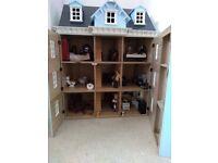 Sue Ryder Georgian dolls house - 4 Storey with furniture