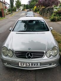 Mercedes CLK 270, Diesel, 99980 miles, silver, only 2 previous owners £2,995.00