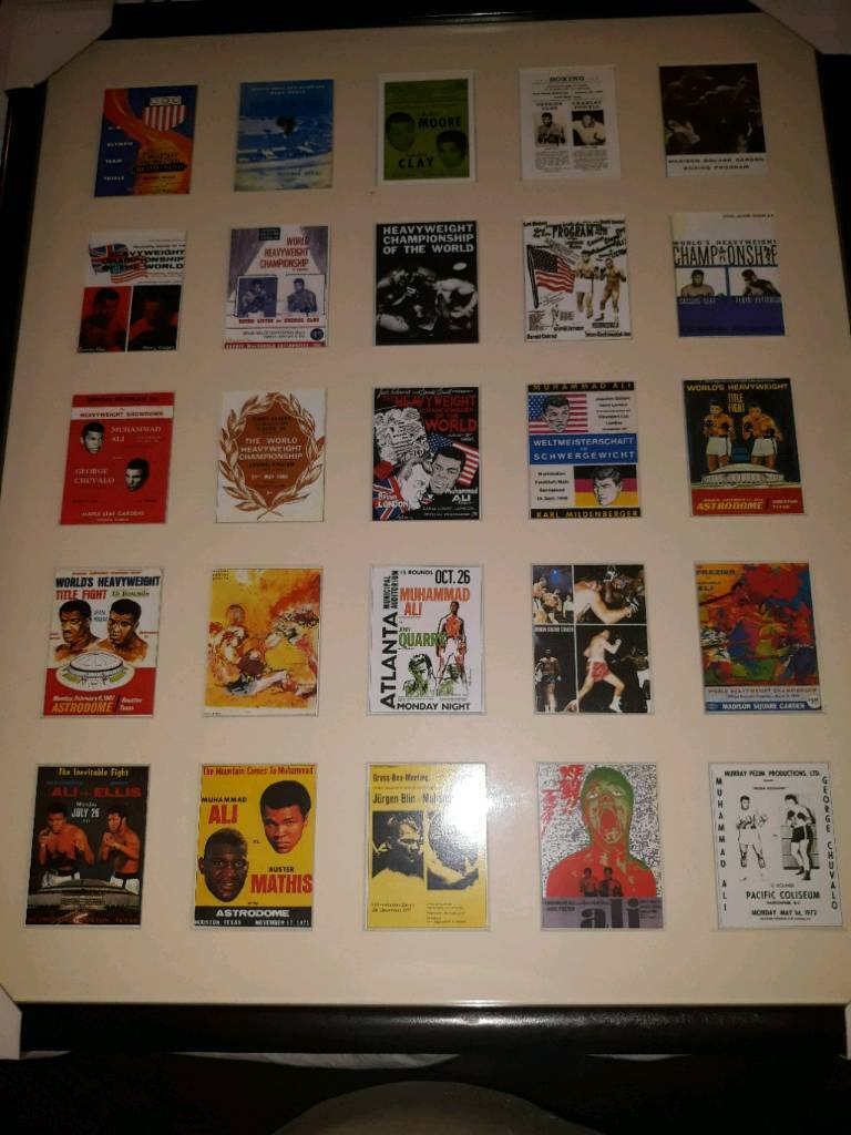 Muhammad Ali fight programme cards