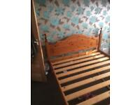 Beautiful solid pine king size bed bargain