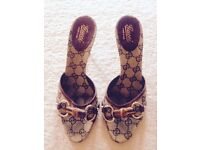 Gucci Kitten Heel Sandals