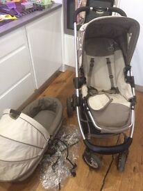 Icandy cherry pushchair travel system with carry cot and rain covers