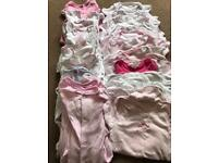Baby girl 6-9 months bundle vests and sleep suits
