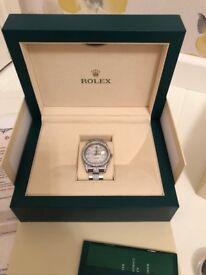 2014 ROLEX DATEJUST II 116300 STAINLESS STEEL MOP DIAMOND FACE,BEZEL & STRAP