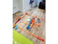 Hot Wheels Track Bundle and cars