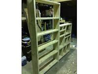 Reclaimed Scaffold Plank Shelving Units