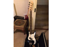 Fender precision bass guitar mex with hard case