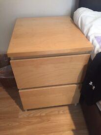 Ikea malm bedside draw