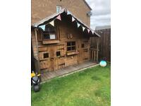 Two Storey Wood Playhouse Excellent Condition