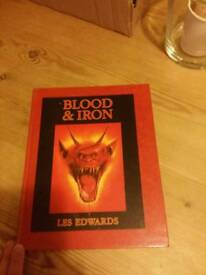 Extremely rare 1989 GAMES WORKSHOP Les Edwards Blood & Iron Art Book Mint!!