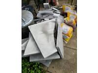Free patio slab cut offs