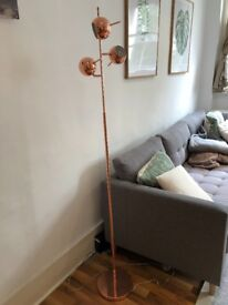 MADE Copper lamp. 3 lights and adjustable height.