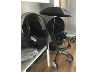Stokke Xplory v4 pushchair pram, car seat