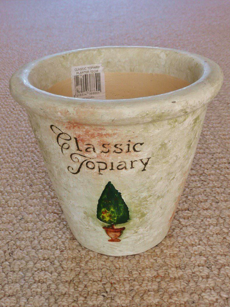 1.6kg+ Cream Pottery Indoor Flower Plant Pot / Planter