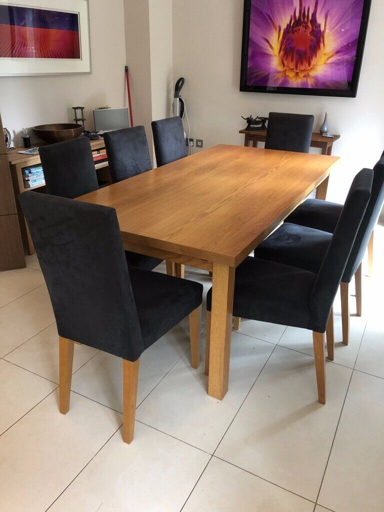 Solid Oak Dining Table 8 Chairs 2 Extension Leaves Will Seat 12 Vgc Reasonable Offers Plse In Wimbledon London Gumtree