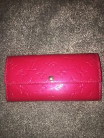 Louis Vuitton pink Sarah wallet purse bag