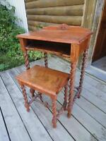 ***PRICE REDUCDED*** ANTIQUE TELEPHONE TABLE AND STOOL