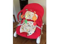 Chicco Hoopla bouncer chair.