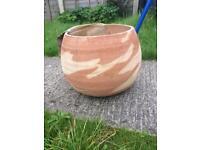 Beautiful terracotta garden plant pots