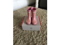 Girls glitter pink hunter wellies