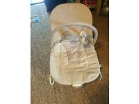 Mamas and Papas beige baby bouncer