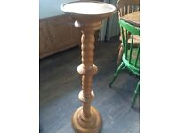 Heavy Solid Pine Jardiniere Pot Stand