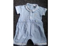 baby boy rompers 6 to 9 months x2