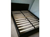 Double Bed Frame. Black faux Leather